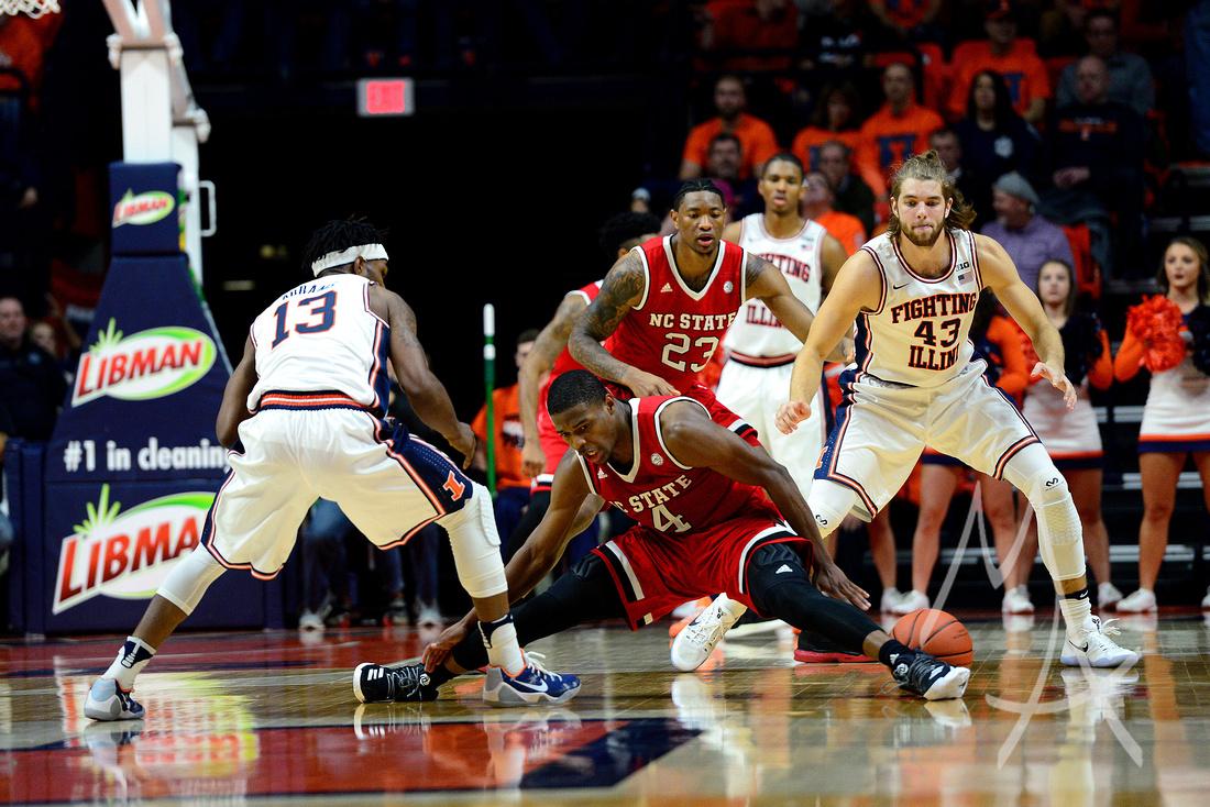 NCAA BASKETBALL: NOV 29 NC State at Illinois